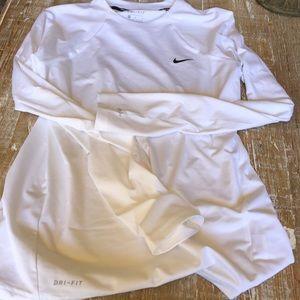 Nike swim long sleeve shirt